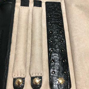 N/A Bags - Genuine Leather Jewelry Organizer Wristlet Pouch